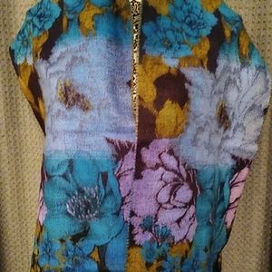 Beautiful and soft multicolor floral scarf. NWOT